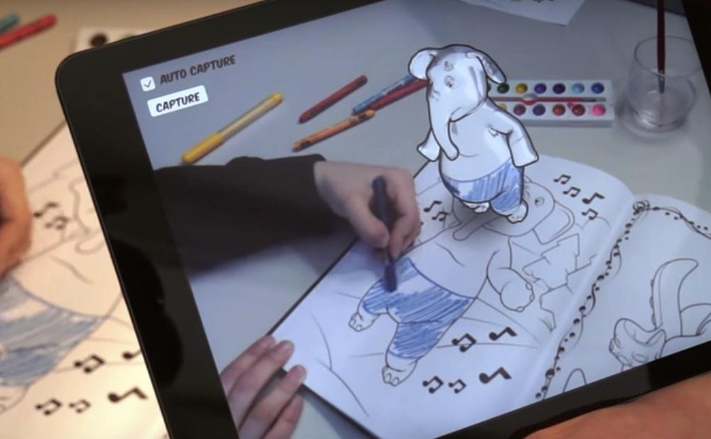 Coloring book in 3D
