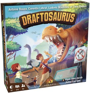 Preview thumbnail for 'Ankama Draftosaurus - Bringing The Jurassic Era Alive- in Draftosaurus, Your Goal is to Have The Dino Park Most Likely to Attract Visitors, Family Fun Drafting Game, for 2 to 5 Players, Ages 8 and Up