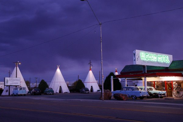 Purple Hour at the Wigwam Motel thumbnail