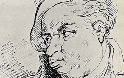 """William Crockford—identified here as """"Crockford the Shark""""—sketched by the great British caricaturist Thomas Rowlandson in about 1825. Rowlandson, himself an inveterate gambler who blew his way through a $10.5 million family fortune, knew the former fishmonger before he opened the club that would make his name."""