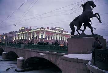 Central St. Petersburg, with its scores of palaces (including the Belozersky), has witnessed many crises in Russia's turbulent history.