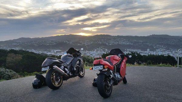 Parked up: Mount Victoria Wellington, New Zealand. thumbnail