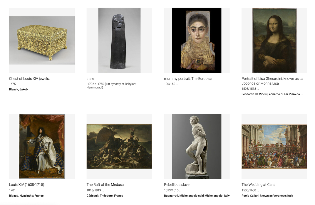 You Can Now Explore the Louvre's Entire Collection Online