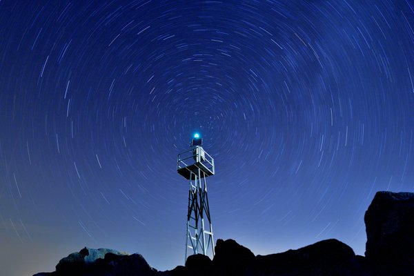 Rotation of cosmos around the light tower thumbnail