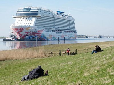 The Norwegian Joy is one of several cruise ships equipped with air lubrication technology.