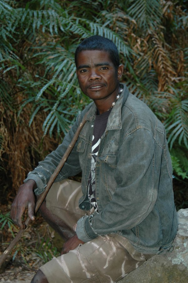 Malagesh man in the forest of Isalo National Parc, Madagascar thumbnail