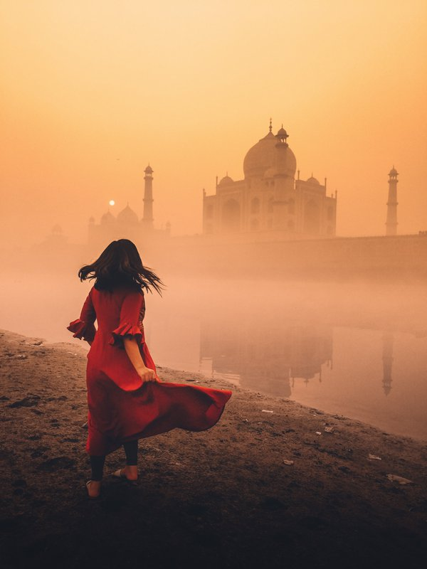 Dancing With Taj Mahal In The Orange Mist thumbnail
