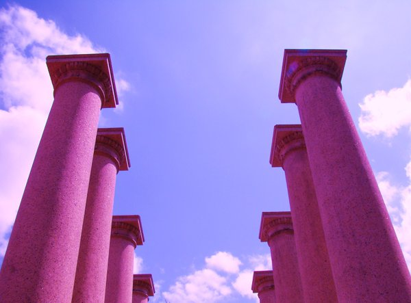 Purple Pillars by Memorial Stadium thumbnail