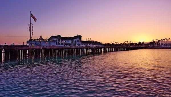 Sunset at the Sterns Wharf, Santa Barbara. thumbnail