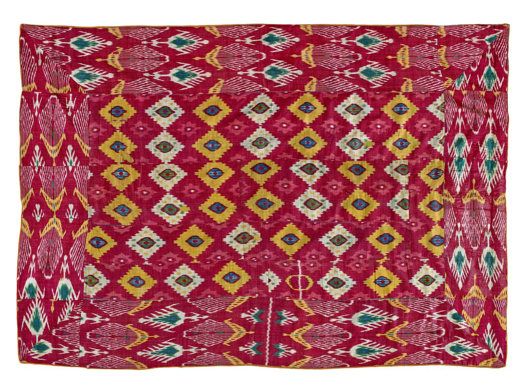 How the Technicolor Ikat Designs of Central Asia Thread Into Textile History