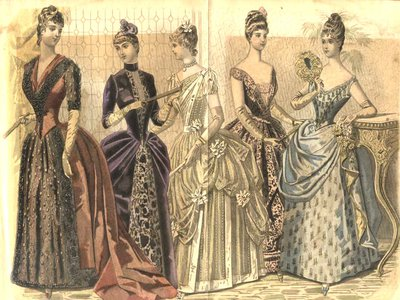 The long, trailing skirts of the Victorian period eventually fell out of favor when they were thought to harbor tuberculosis microbes.
