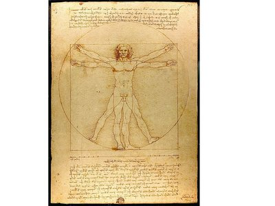 "Leonardo da Vinci's ""Vitruvian Man"" will make an appearance in the Louvre's upcoming blockbuster exhibition"