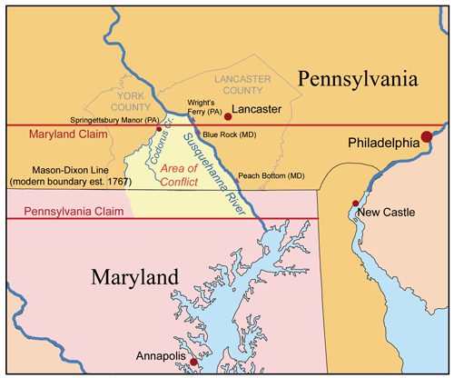 This Long, Violent Border Dispute Between Colonial Maryland and Pennsylvania is Why We Have the Mason-Dixon Line