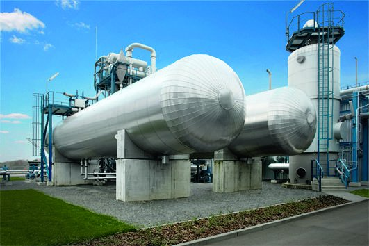 Carbon capture and storage equipment in Germany.