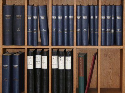 A set of the volumes published by 2010 of the Thesaurus Linguae Latinae