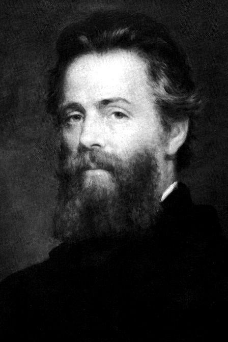 Etching of Joseph O. Eaton's portrait of Herman Melville