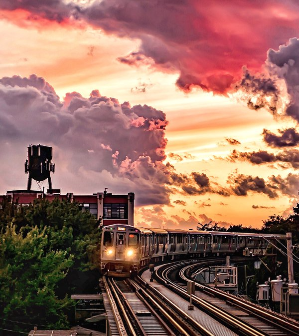 Sunset in Chicago thumbnail