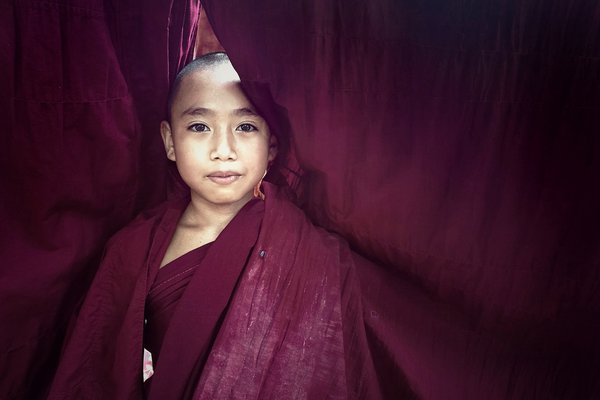 Novice with maroon-colored robe thumbnail