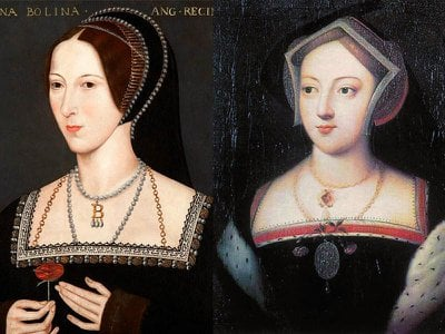 Mary Boleyn (right) served as Henry VIII's mistress before her sister Anne's (left) ascent to the throne.
