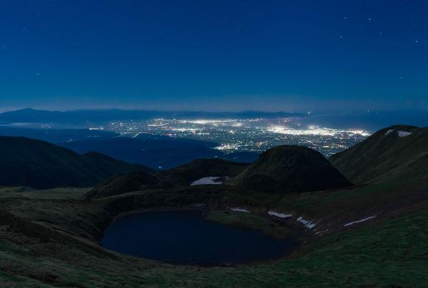 Volcanic lake at midnight thumbnail