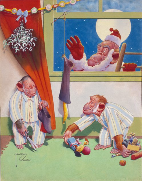 Monkeying around with Santa