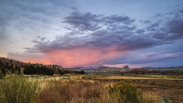 View of Powell Point, Tropic, Utah, at sunset thumbnail