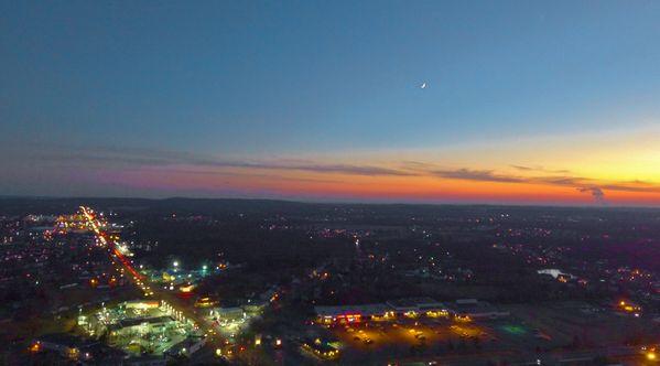 Drone Moon Over Quakertown, Pa.  USA thumbnail