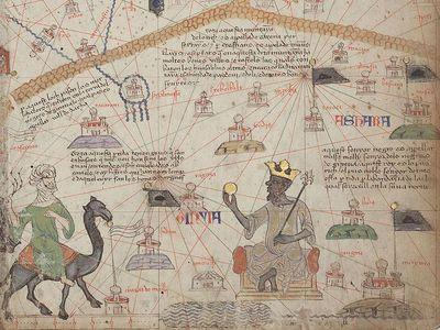 Mansa Musa as seen in the Catalan Atlas.