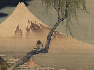 Boy Viewing Mount Fuji by Katsushika Hokusai, 1839
