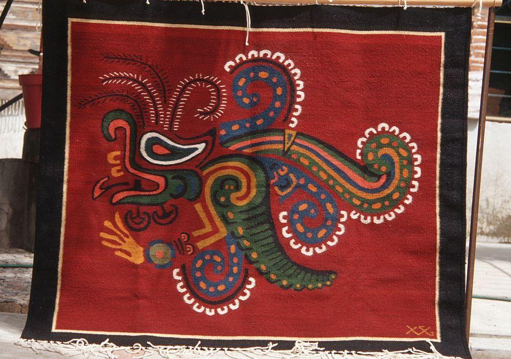 """Olmec butterfly"" rug by Isaac Vasquez of Oaxaca"