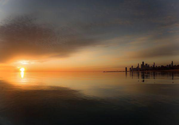 Chicago Sunrise from Montrose Harbor thumbnail