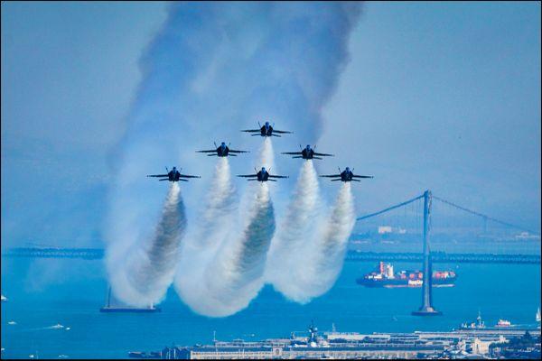 Navy's Blue Angels Perform at San Francisco Fleet Week thumbnail