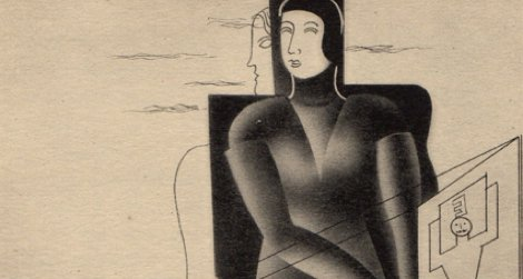 The woman of the year 2030, illustrated by Edward McKnight Kauffer in 1930