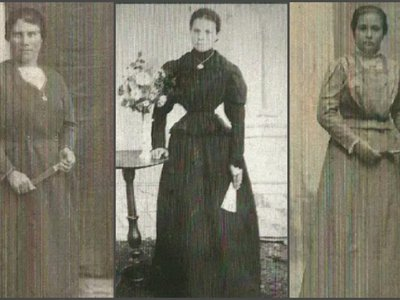 L to R: Leonor Villa, Melania Lasilla and Julia Claveras, three of the ten women executed by a fascist firing squad in August 1936