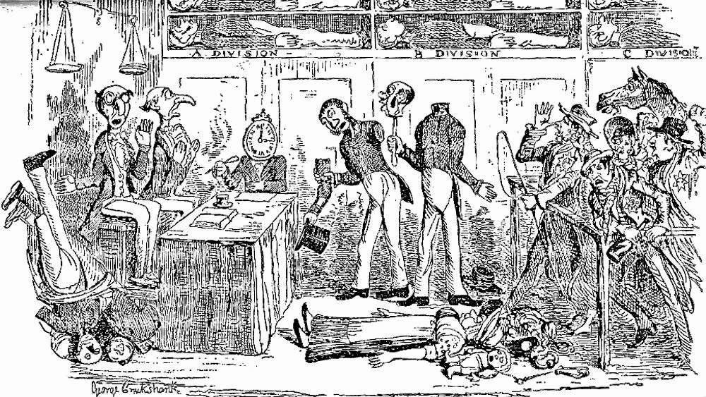 George Cruikshank's impression of Dickens' dystopia