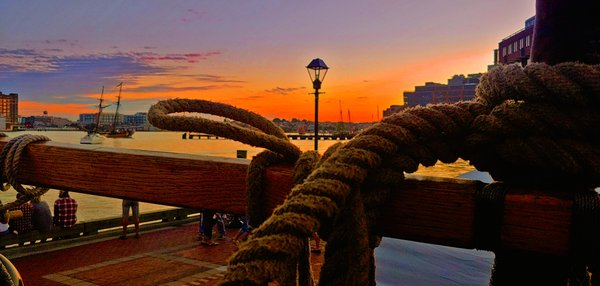 Sunset At Fells Point Pier from The Pride of Baltimore II thumbnail