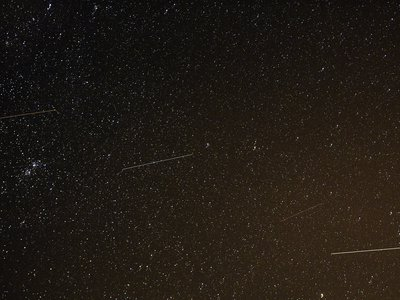 The meteor shower is named for the Orion constellation because that's where the meteors seem to emerge from.