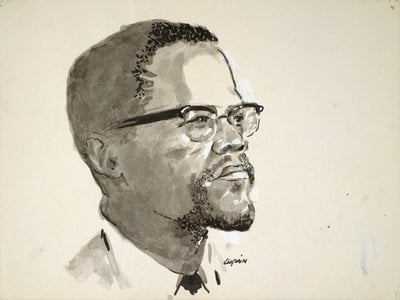 Malcolm X by Copain, c. 1967