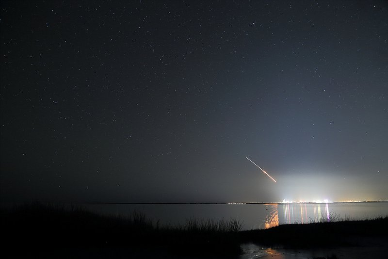 The launch of the LADEE probe from Wallops on September 18 as seen from Atlantic City.