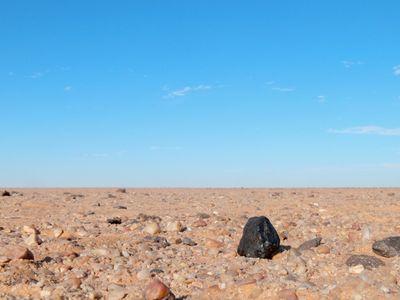 A piece of the Almahata Sitta in Sudan