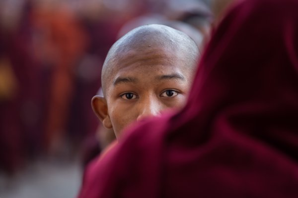 Buddhist monk in Ananda Festival thumbnail