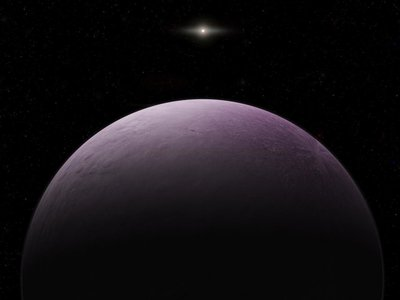 An artist's conception of the view from Farout.