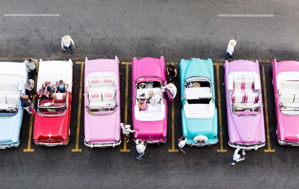 Busy rainbow cars thumbnail