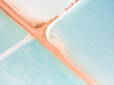 """Salt Series"" taken during a low-altitude flight in Western Australia."