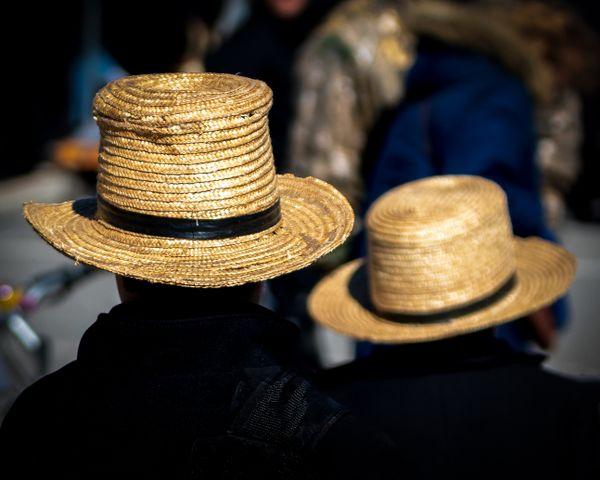 Amish Straw Hats at Spring Mud Sale thumbnail