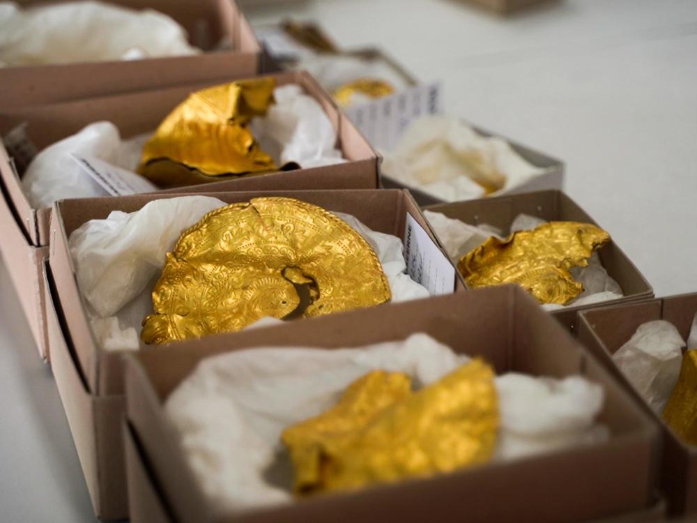 Gold bracteates found in Denmark