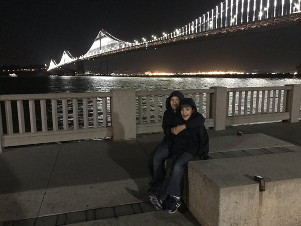 Brothers at the Bay Bridge thumbnail