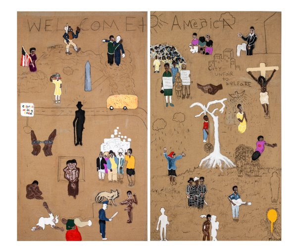 <i>Finding Bayard aka Double or Nothin'</i> [Bayard Rustin], 2018. Sissòn. Courtesy of Stephanie Bridger and artist Sissòn.