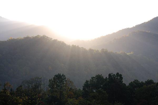 Heavenly light in Asheville, North Carolina thumbnail