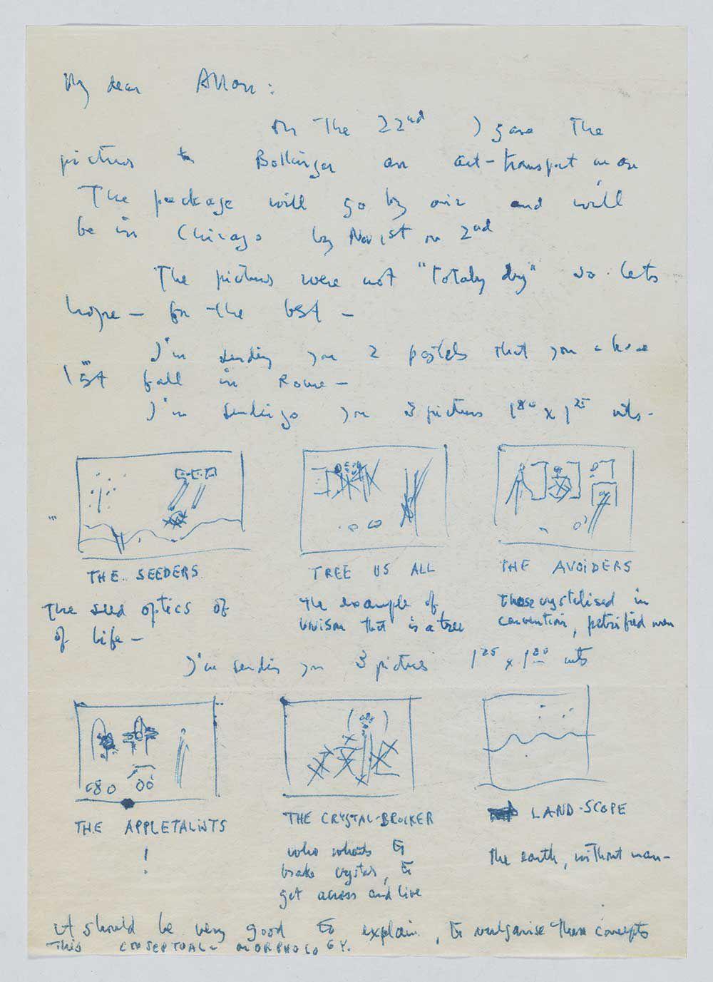 Letter sent to Allan Frumkin from Roberto Matta